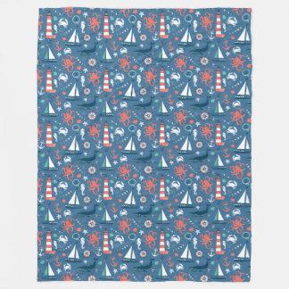 航海のな冒険毛布 フリースブランケット
