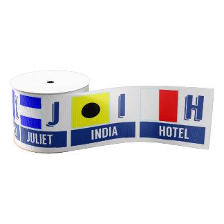航海のな印は手紙H - N --に印を付けます グログランリボン