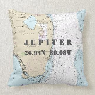 航海のな図表の緯度の経度ジュピター、フロリダ クッション