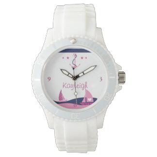 航海のな女の子の名前入りな腕時計 ウオッチ