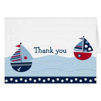 航海のな帆遠くになヨットはメッセージカード感謝していしています カード
