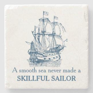 航海のな引用文Aの滑らかな海は決してコースターを作りませんでした ストーンコースター