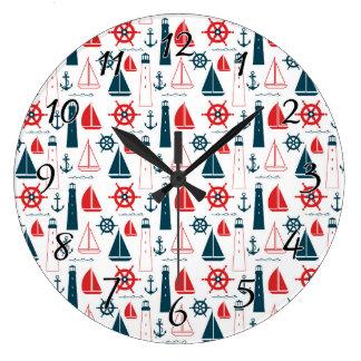 航海のな愛国者 ラージ壁時計