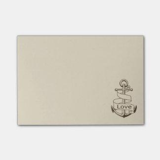 航海のな愛船のいかりタン-船員、海、海 ポストイット