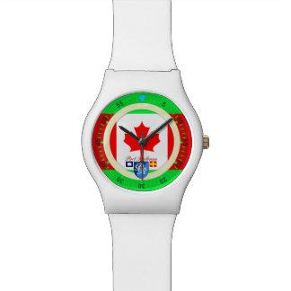 航海のな旗のカナダの港Richman 腕時計