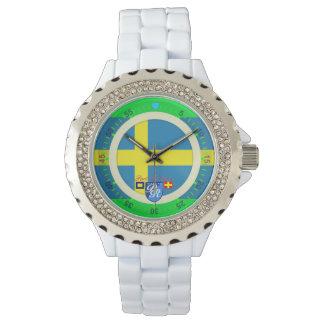 航海のな旗のスウェーデンのスウェーデンの港Richman 腕時計