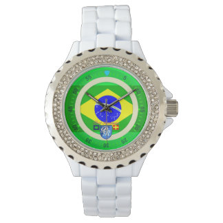 航海のな旗のブラジルのブラジルの港Richman 腕時計
