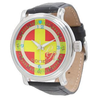 航海のな旗のロミオの手紙Rのヴィンテージのクラシックなスタイル 腕時計
