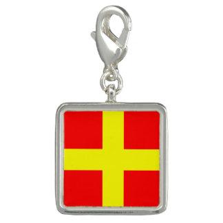 """航海のな旗の印のコード文字R """"ロミオ"""" チャーム"""