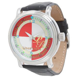航海のな旗の均一手紙Uのクラシカルなスタイル 腕時計