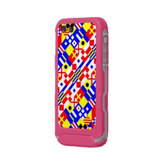 航海のな旗パターン ウォータープルーフiPhone SE/5/5sケース