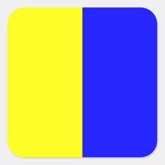 航海のな旗信号の手紙K (キロ) スクエアシール
