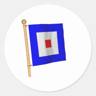 航海のな旗「W ラウンドシール
