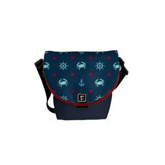航海のな星パターン メッセンジャーバッグ