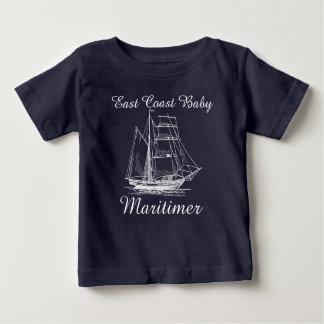 航海のな東海岸のベビーのMaritimerの帆船 ベビーTシャツ