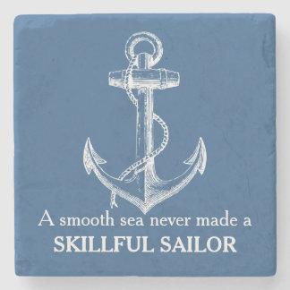航海のな決していかりの引用文Aの滑らかな海のコースター ストーンコースター