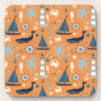 航海のな海のオレンジ コースター