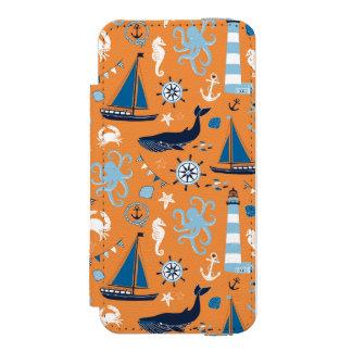 航海のな海のオレンジ INCIPIO WATSON™ iPhone 5 財布 ケース