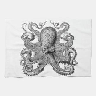 航海のな海のタコの装飾の台所タオル キッチンタオル