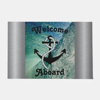 航海のな海のマットの歓迎 ドアマット