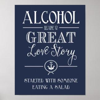 航海のな海軍アルコールラブストーリーのプリント ポスター