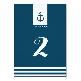 """航海のな海軍結婚式のテーブルの第- 5"""" x 7"""" カード"""