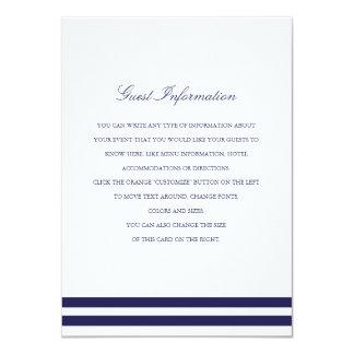 航海のな海軍結婚式の挿入物 11.4 X 15.9 インビテーションカード