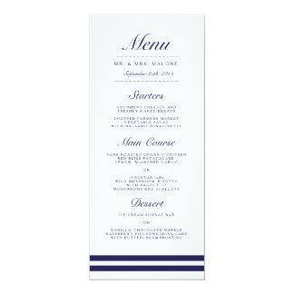 航海のな海軍結婚式夕食メニュー 10.2 X 23.5 インビテーションカード
