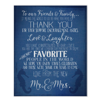 航海のな濃紺の結婚式のシャクヤクの印ありがとう ポスター