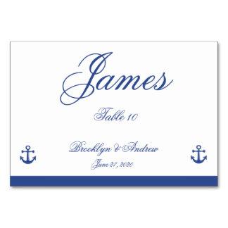 航海のな結婚式の座席表 カード