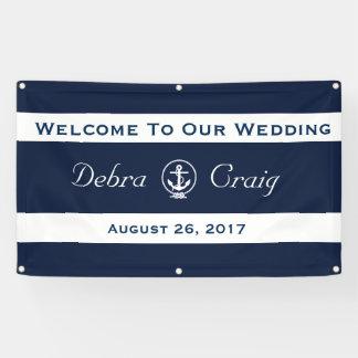 航海のな結婚式の旗3' x 5' 横断幕