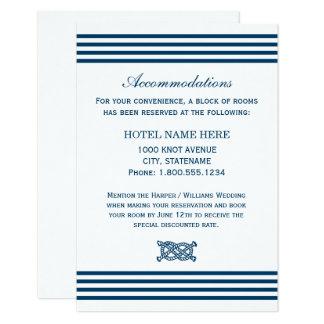 航海のな結婚式の調節カード|は縞で飾ります 8.9 X 12.7 インビテーションカード
