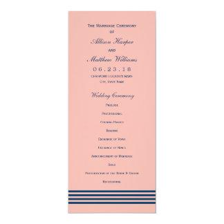 航海のな結婚式プログラム 海軍は縞で飾ります カード