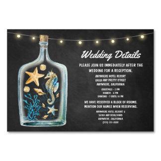 航海のな結婚披露宴の調節カード カード