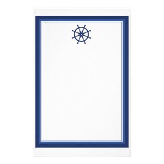 航海のな舵輪の文房具 便箋