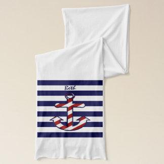 航海のな船のいかりのスカーフ スカーフ