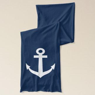 航海のな船のいかりのデザインの濃紺のスカーフ スカーフ