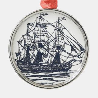 航海のな船のオーナメント メタルオーナメント