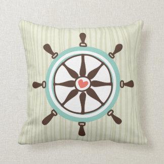 航海のな船の車輪およびいかり クッション