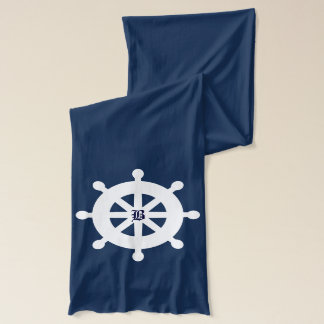 航海のな船の車輪のスカーフ スカーフ