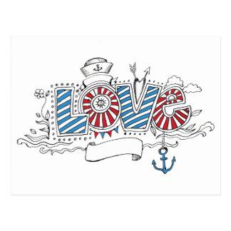 航海のな船員レトロ愛郵便はがき ポストカード