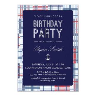 航海のな誕生日のパーティの招待状-夏 カード