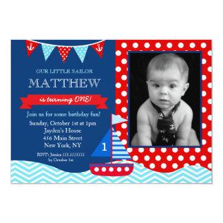 航海のな誕生日の招待状 カード