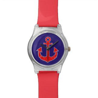 航海のな赤いいかり ウォッチ