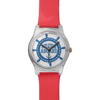 航海のな青い大尉のWheel Watchの歓迎 腕時計