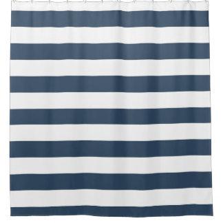 航海のな青い縞 シャワーカーテン