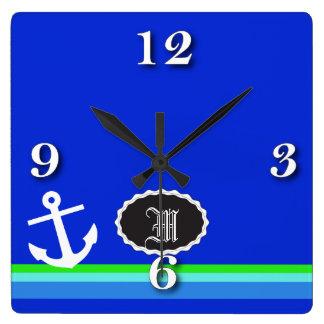 航海のな青 スクエア壁時計