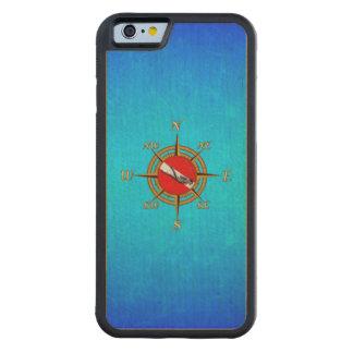 航海のな飛び込みのコンパス CarvedメープルiPhone 6バンパーケース