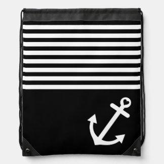 航海のな黒い愛いかり ナップサック