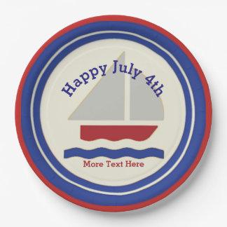 航海のな7月4日の紙皿 ペーパープレート